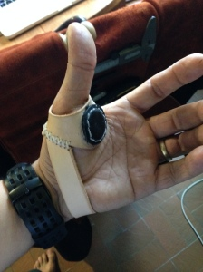 Paumelle en cuir pour couture main Gauche