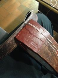 ceinture cuir gras